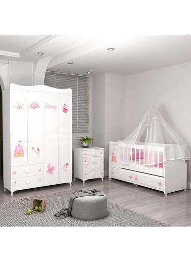 Garaj Home Garaj Home Pırlanta Yıldız 4Lü Prenses Bebek Odası Takımı - Yatak Ve Uyku Seti Kombinli/ Uyku Seti Mavi Mavi